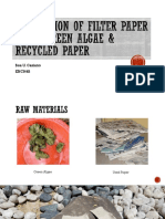 Production of filter paper using green algae & recycled paper.pptx