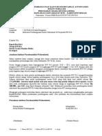 Draft Edaran Pembangunan Sekertariat RW 014