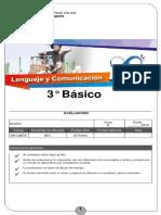 Prueba 3° Básico Lenguaje y Comunicación