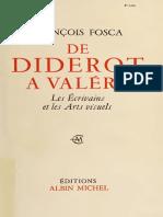 De Diderot a` Vale´ry  les e´crivains et les arts visuels