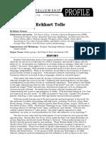 Eckhart Tolle Profile