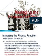 Managing the Finance Function