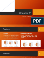 Chapter 01 - Fractions & Equations