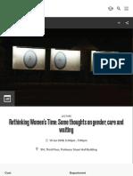 Rethinking Time- Goldsmiths