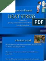 Heat Stress Training AUGUST 2019