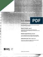 Sony Svo-9500mdp Svhs Vhs Manual