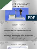 Dielectric Constant of Liquids