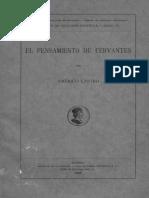 El pensamiento de Cervantes - Americo Castro