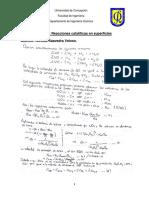 Reacciones catalíticas en superficies