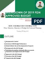 2019 Approved FGN Budget Breakdown Public Presentation - Final