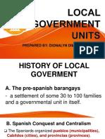 Local Government Units