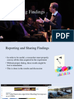 Lecture 9 - Reporting and Sharing Findings