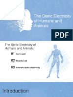 The Static Electricity of Humans and Animals