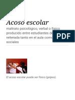 Acoso Escolar - Wikipedia, La Enciclopedia Libre