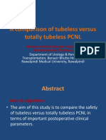 A Comparison of Tubeless Versus Totally Tubeless PCNL 2
