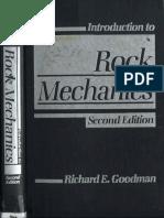 Introduction to Rock Mechanics 2nd Edition- Goodman