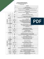 Calendar of Activities Shs