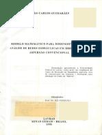 DISSERTAÇÃO_Modelo Matemático Para Dimensionamento e Análise de Redes Hidráulicas Em Irrigação Por Aspersão Convencional
