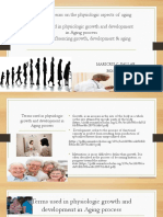 Special Concerns on the Physiologic Aspects of Aging