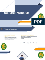 The Basic Concepts of the Rational Function