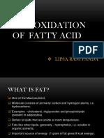 Beta Oxidation of Fattyacid Ppt