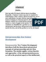 Venture Development