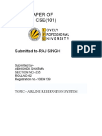 Airlines Reservation Sytemterm Paper of Cse