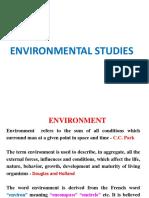 Lec 1 - Environment Studies
