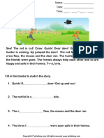 Reading Comprehension Stories 40