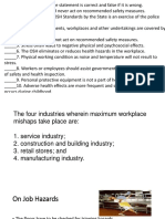 4.2 Safety Regulations in the Workplace
