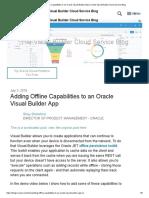 Adding Offline Capabilities to VBCS
