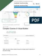 Complex Queries in Visual Builder