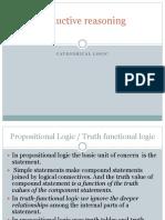 Deductive Reasoning Categorical Logic