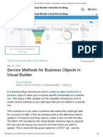 Service Methods for Business Objects in VBCS