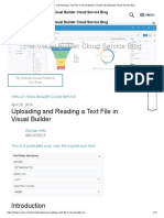Uploading and Reading a Text File in Visual Builder