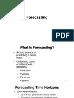 Forecasting quantitative methods MBA
