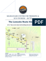 The Lemosho Route KILIMANJARO  itinerary.pdf