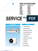 Room Air Condictioner Samsung - Service Manual
