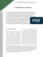 EN_Bataillon_281 Claude Lefort, Pensador de Lo Político