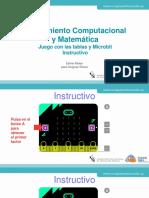 Breve tutorial para jugar con las tablas y Microbit.pptx