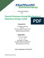 Internship Report on Financial Performan