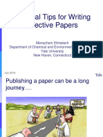 Practical Tips for Writing Effective Papers (July 2019)