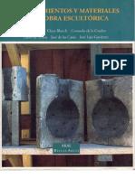 Procedimientos y Materiales en La Obra Escultorica