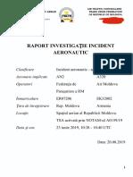 Raport Investigație Incident Aeronautic // 23.06.2019 // NOTAM A0159/19