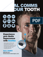 Tooth speaker