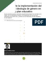 Ideología de Gnero Posturas y Anaisis Historia Americana