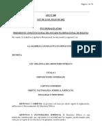 Ministerio Público - Ley 260