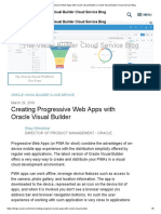 Creating Progressive Web Apps With VBCS