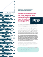 Nuffield Bioethics Leaflet for NIPT Companies