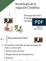 Recomendaciones para la Presentación Oral.ppt